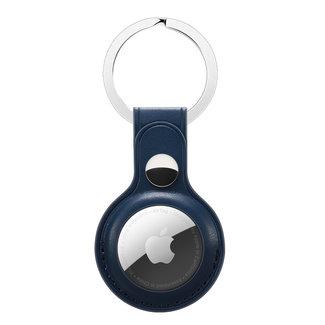 Marke 123watches AirTag PU Leder Schlüsselanhänger - blau