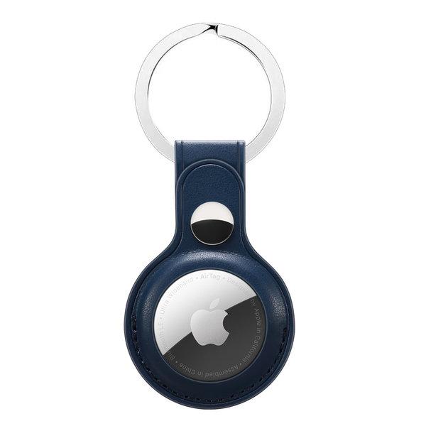 123Watches AirTag Leder Schlüsselanhänger - blau