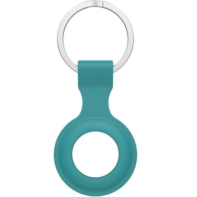 Marke 123watches AirTag Silikonring Schlüsselring - grün