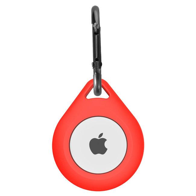 Marke 123watches AirTag Silikon Drop Schlüsselring - rot