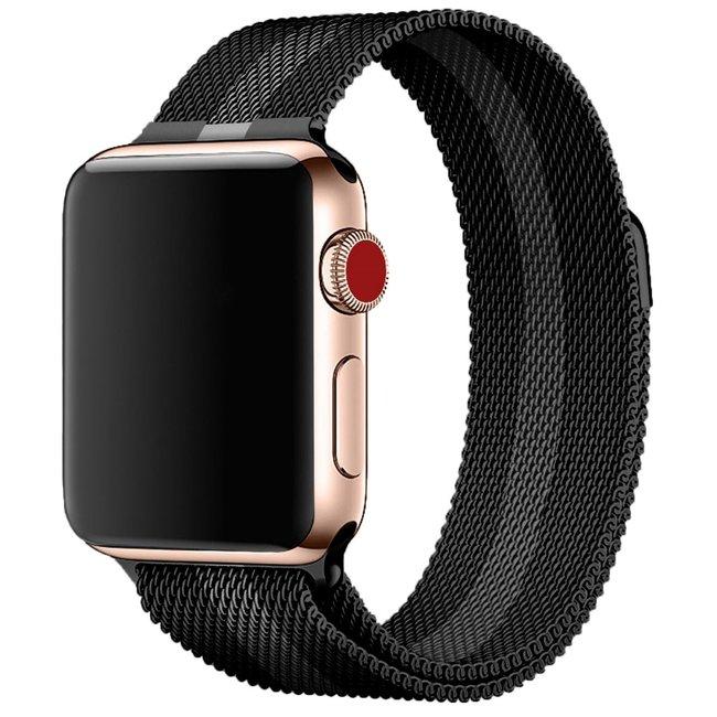 Apple watch milanese band - schwarz grau gestreift