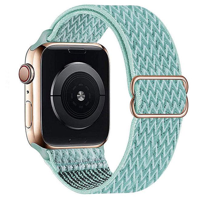 Apple watch nylon solo loop band - grün blau