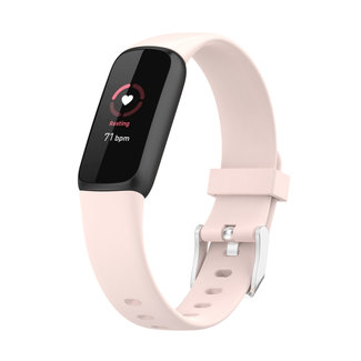 Merk 123watches Fitbit Luxe sport band - rosa Sand