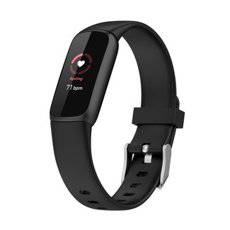 Merk 123watches Fitbit Luxe sport band - Schwarz
