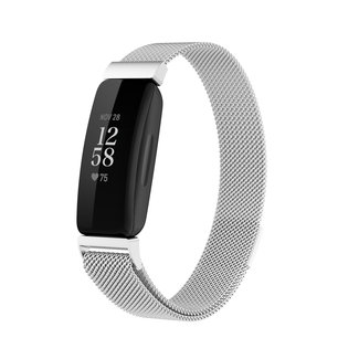 Merk 123watches Fitbit Inspire 2 milanese band - Silber