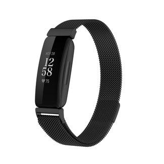 Merk 123watches Fitbit Inspire 2 milanese band - Schwarz