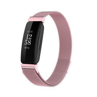 Merk 123watches Fitbit Inspire 2 milanese band - Rosa