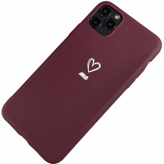 Apple iPhone 11 Pro Max - love me weich Hülle Eva rot