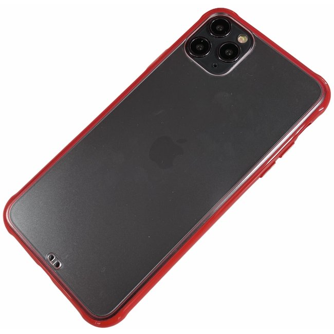 Apple iPhone 11 Pro Max - Silikon transparent weich Hülle Sam rot