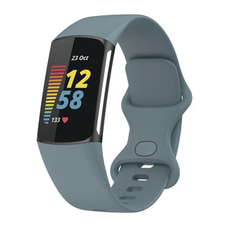 Marke 123watches Fitbit charge 5 sport band - schiefer