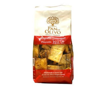 Pan de Olivo Tapas Crackers Regañas Pimenton