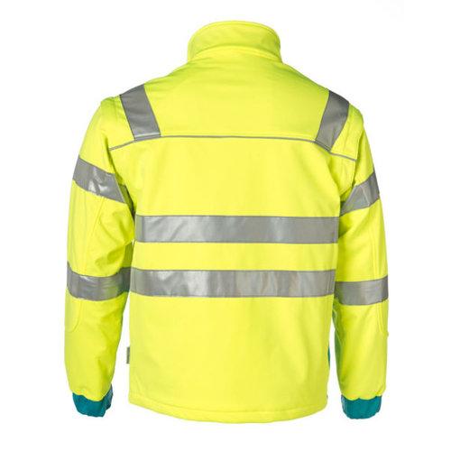 Rescuewear Softshell jas enamel/fluorgeel, HiVis klasse 3