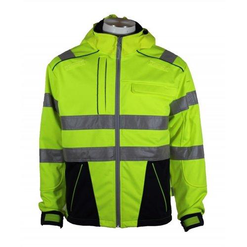 Rescuewear Softshell Dynamic blauw/fluorgeel