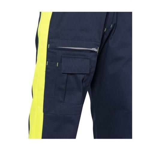 Rescuewear Unisex Broek Dynamic blauw/fluorgeel