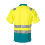 Rescuewear Poloshirt korte mouw,  Enamelblauw/Neongeel