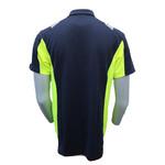 Rescuewear Poloshirt Dynamic korte mouw blauw/fluorgeel