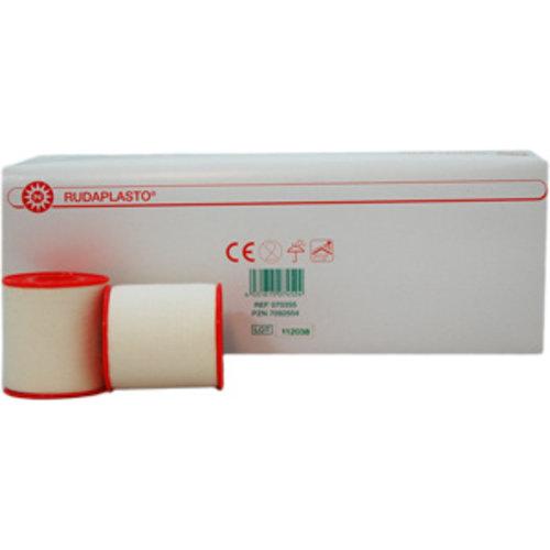 Fixatiepleister Rudaplast op spoel 9,14m. Kleur wit