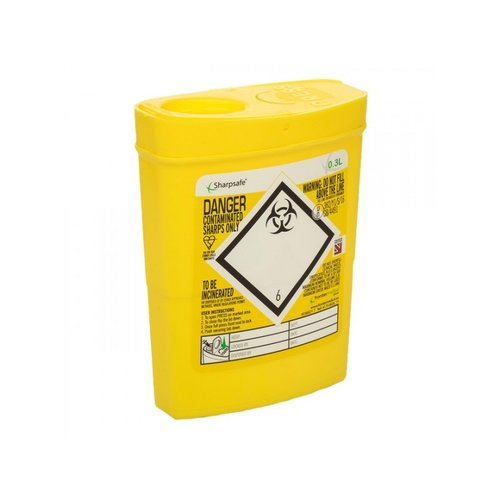 Naaldencontainer Sharpsafe pocket 0,3 L 5 stuks