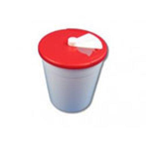 Naaldencontainer wit/rood 1,5 liter hersluitbaar