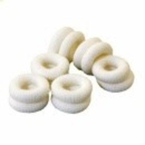 Vingerbob buisvormig vingerband 50 stuks, wit