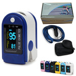 Pulse-Oximeter / Saturatie meter Contec CMS50D, blauw