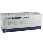 Norm-Ject injectiespuiten, 2 delig, Luer excentrisch, 100 stuks