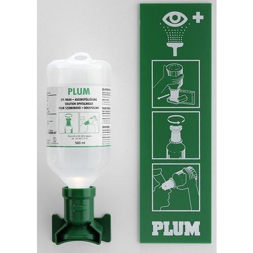 Plum oogspoel station 1 x 500 ml Sodium Chloride
