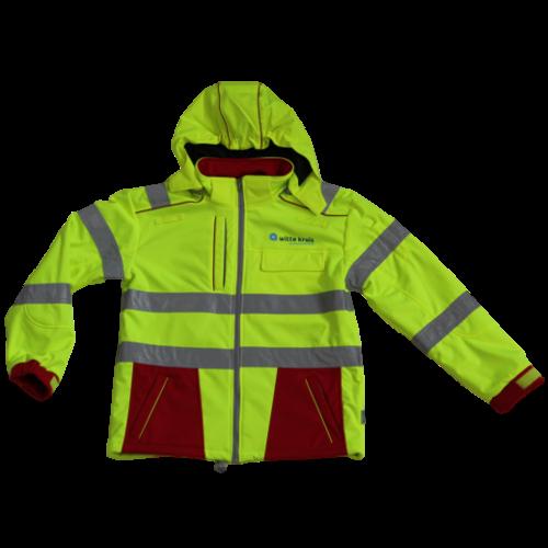 Rescuewear Softshell Dynamic rood/fluorgeel