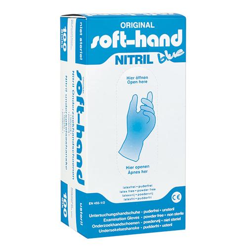 Nitril handschoenen Soft Hand, blauw, ongepoederd