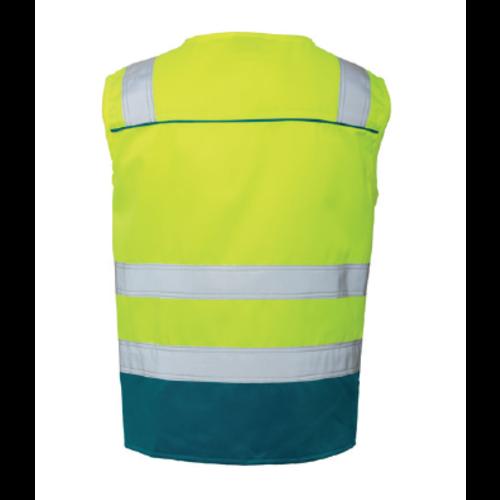 Rescuewear Zomerhesje Dynamic HiVis Kl. 1 Enamelblauw / Neon Geel