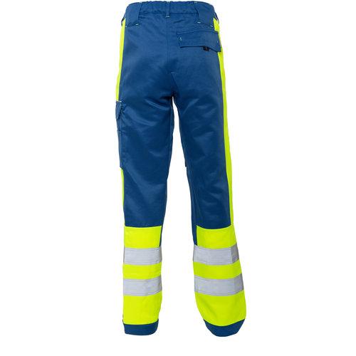 Rescuewear Unisex Broek Dynamic, Kobaltblauw/Neongeel