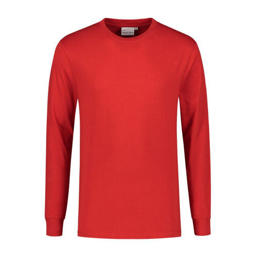 Santino T-shirt lange mouw James, rood