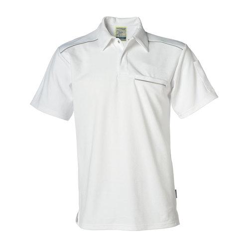 Rescuewear Poloshirt, korte mouw met intastborstzak, Natura, Wit