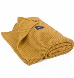 POOFI Dekentje Poofi - Honeycomb knit - Honey