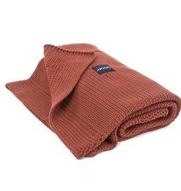 POOFI Dekentje Poofi Honeycomb knit - Brick