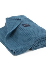 POOFI Dekentje Poofi - Honeycomb knit - Denim blue
