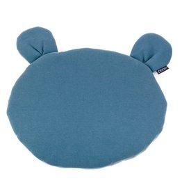 POOFI Poofi - Teddybear cushion - Denim and grey