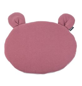 POOFI Poofi - Teddybear cushion - Maroon and grey