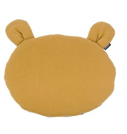 POOFI Poofi - Teddybear cushion - Mustard and grey
