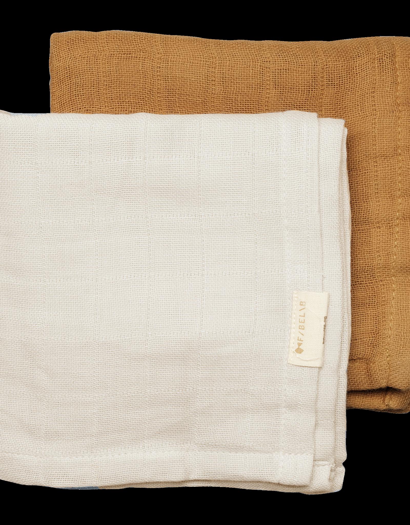 FABELAB Fabelab Muslin cloth - 2pack - Fawn