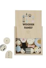 OYOY MINI OYOY - Wooden Family Bricks