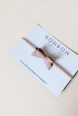 BONBON BABY&KIDS Bonbon - Strik Karlee op haarband - Dusty Pink