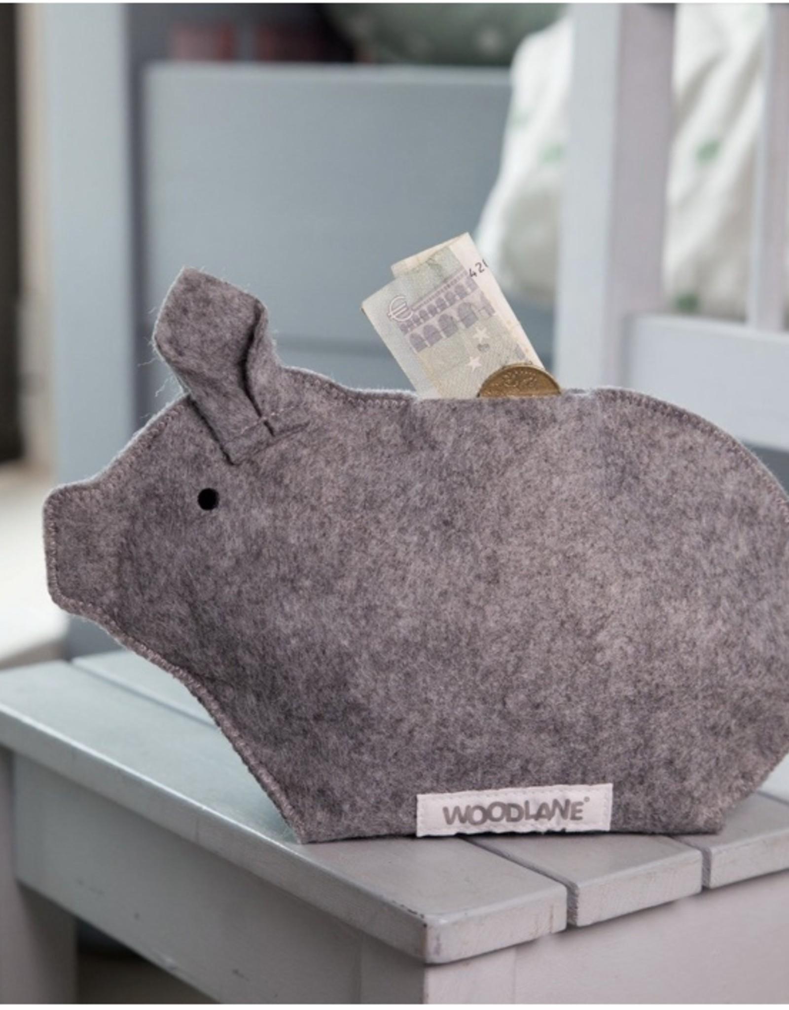 Woodlane Recycled piggy bank - Grey