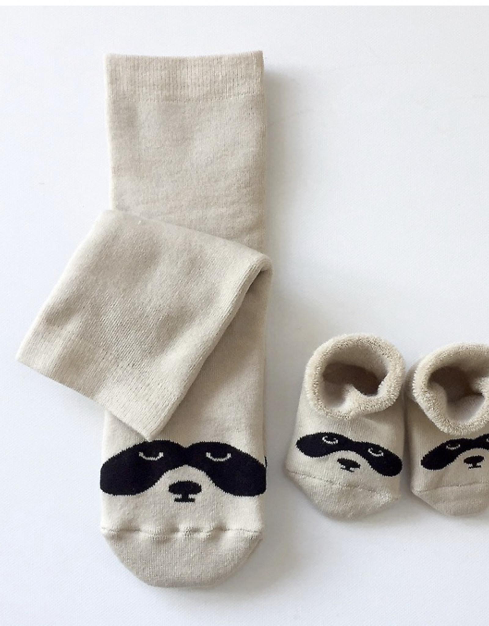 Hektik Set sokken mama en baby - wasbeer