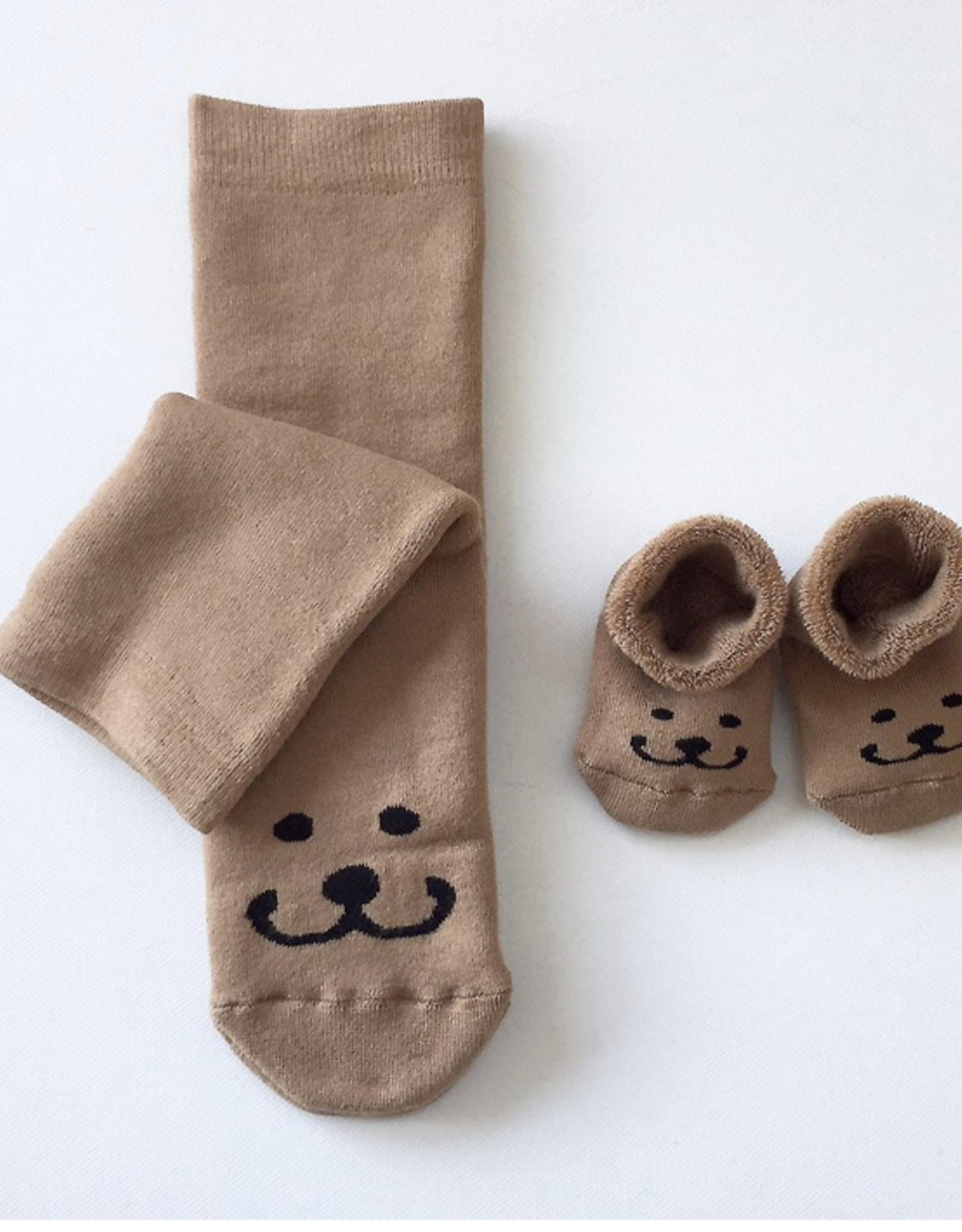 Hektik Set sokken mama en baby - Brom beer