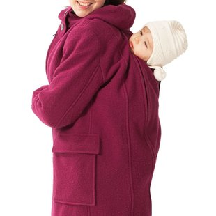 Mamalila Woollen Hooded Coat berry