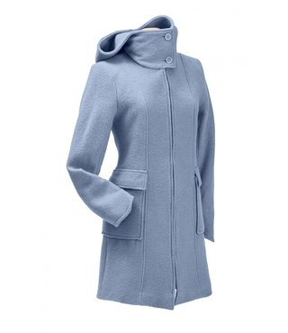 Mamalila Woollen Hooded Coat Misty Blue