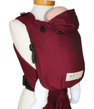 Storchenwiege Babycarrier Bordeaux