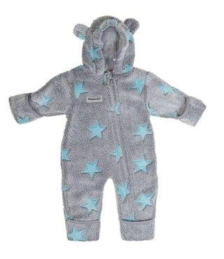 Hoppediz Fleece-overall Grijs/blauw
