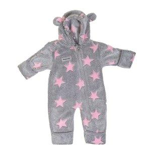Hoppediz Fleece-overall Grijs/roze